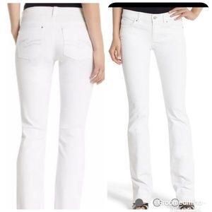 White House Black Market Blanc Boot Leg Jeans